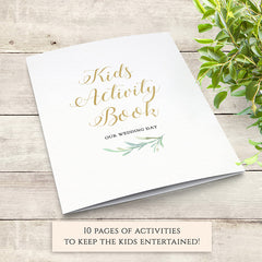 Kids Activity Pack Book for Weddings