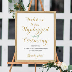 Printable Unplugged Ceremony Sign