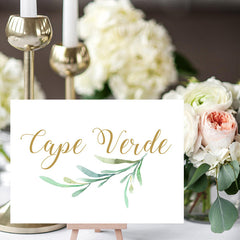 Greenery Printable Table Name Cards