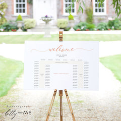 Rose Gold U Shaped Table Seating Plan Template