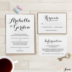 Printable Wedding Invitation Template Set