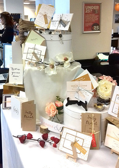 Connie & Joan wedding stationery at Brighton Racecourse Wedding Fair