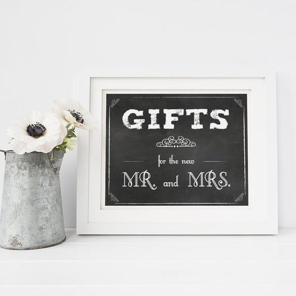 Wedding gifts printable sign