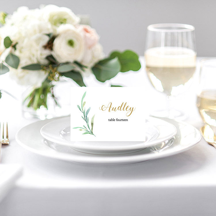 Wedding Name Cards.Greenery Wedding Table Place Cards