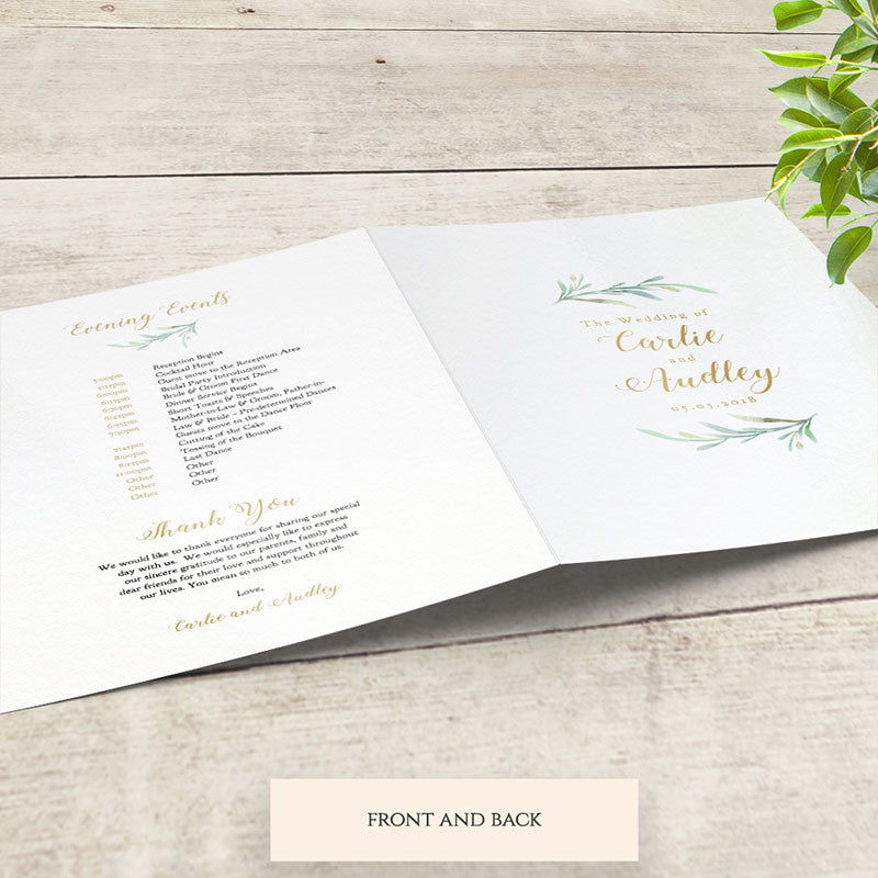 diy wedding program booklet order of service template connie joan
