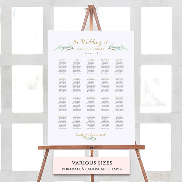 Printable Menus, Place Cards, Numbers And Seating Chart - Connie