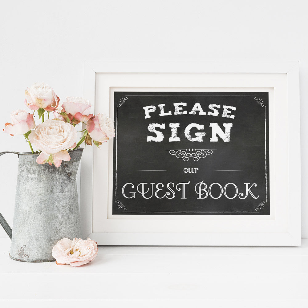 Please sign our guest book printable sign