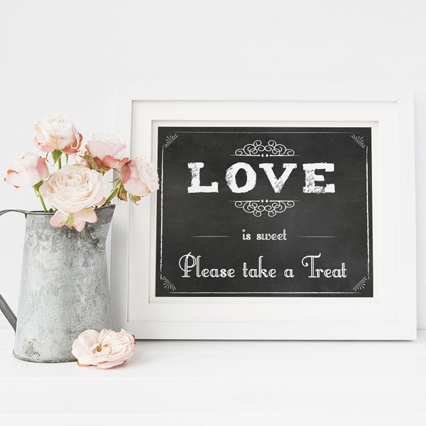 Love is sweet please take a treat printable sign