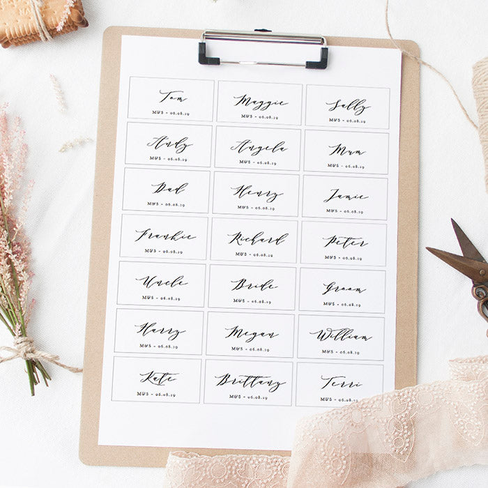 Name Tag Printable Template - Connie & Joan