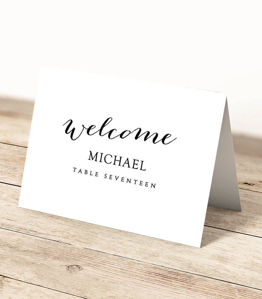 picture regarding Printable Place Cards Template named Cute Bomb Wedding day Position Playing cards Template