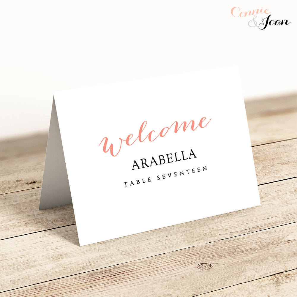 photograph regarding Printable Place Card Template identify Cute Bomb Marriage Area Playing cards Template