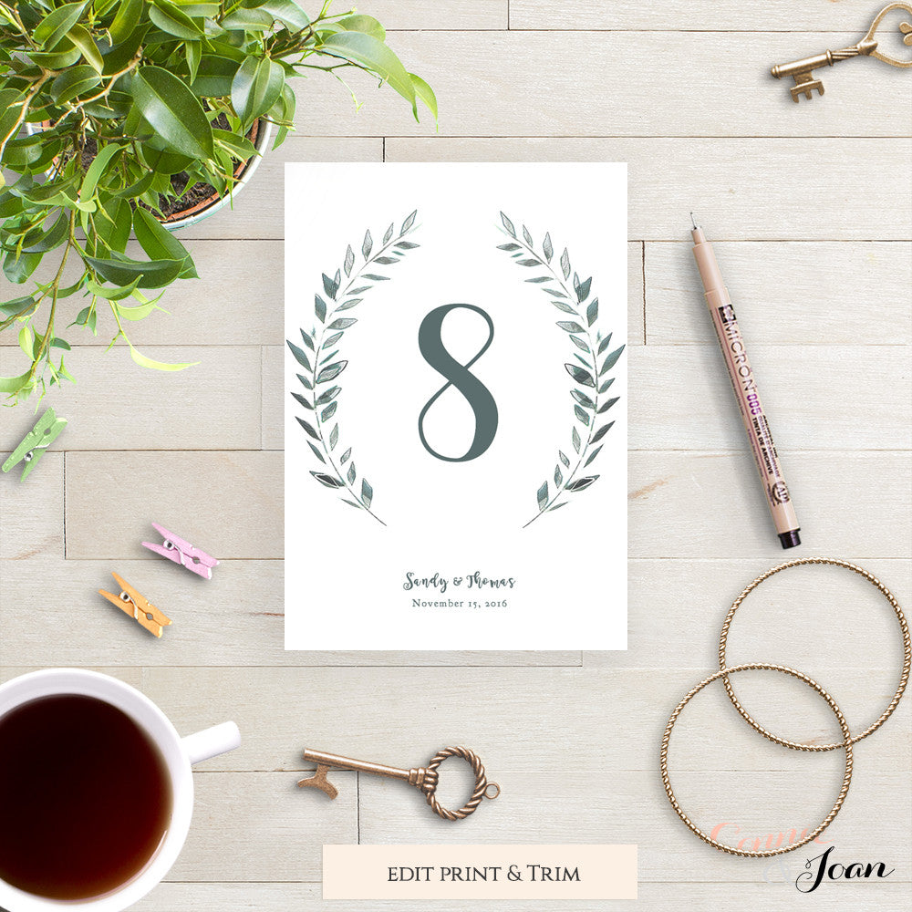 photo relating to Printable Table identify Rustic Printable Marriage Desk Quantities Template