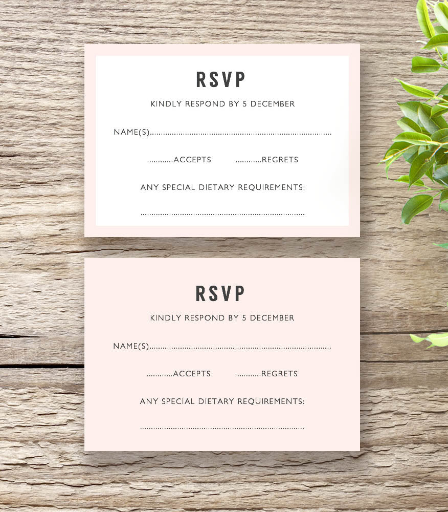 Modern printable wedding invitation template set connie joan invitation templates modern border wedding invitation morden rsvp card with or without border stopboris Choice Image
