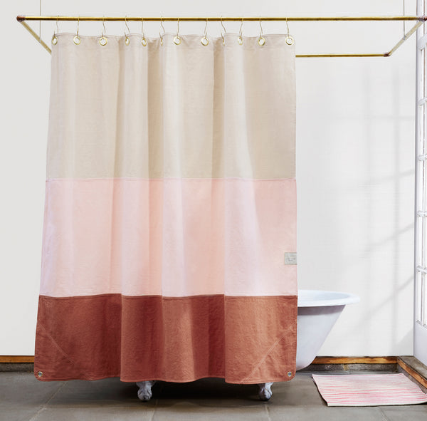 Lido Clay Brooklyn Made Shower Curtains Quiet Town