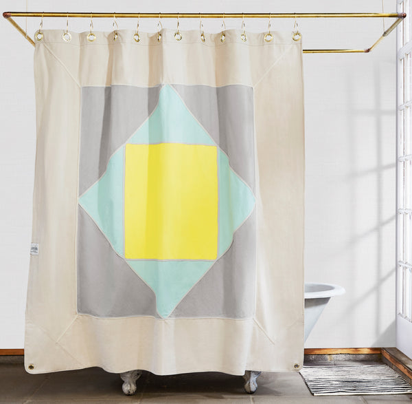 Narlai Mint Shower Curtain Made In Usa Quiet Town