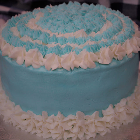 "Gluten-Free, Dairy Free Birthday Cake with ""Butter Cream"" Icing"