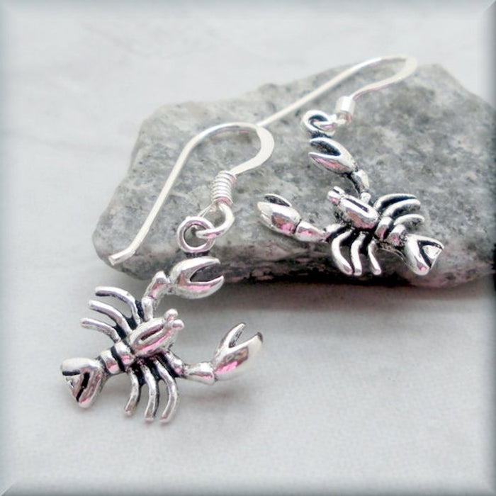 Maine lobster earrings