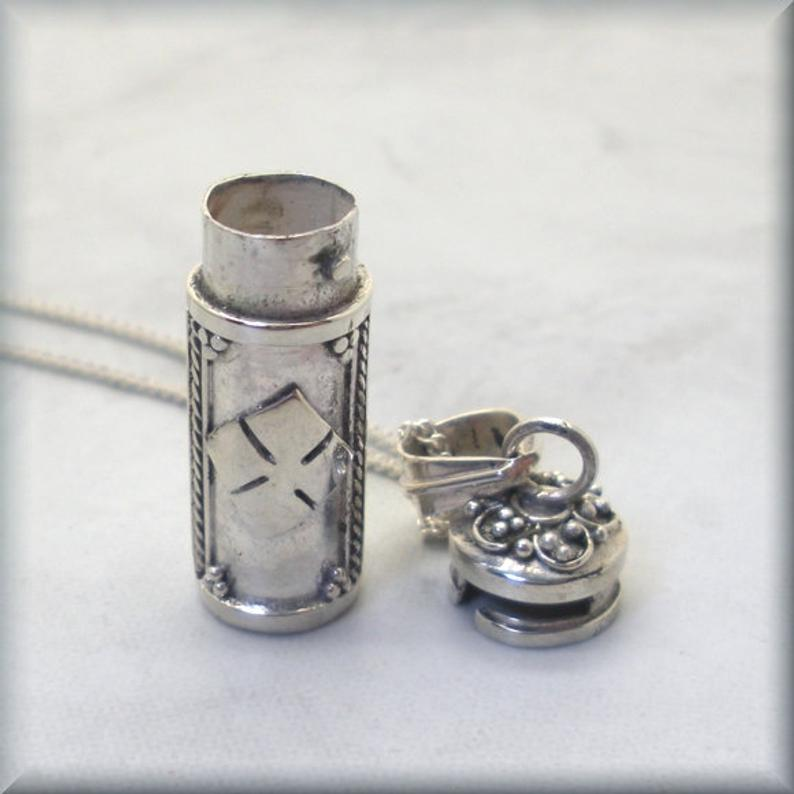 sterling silver secret message pendant