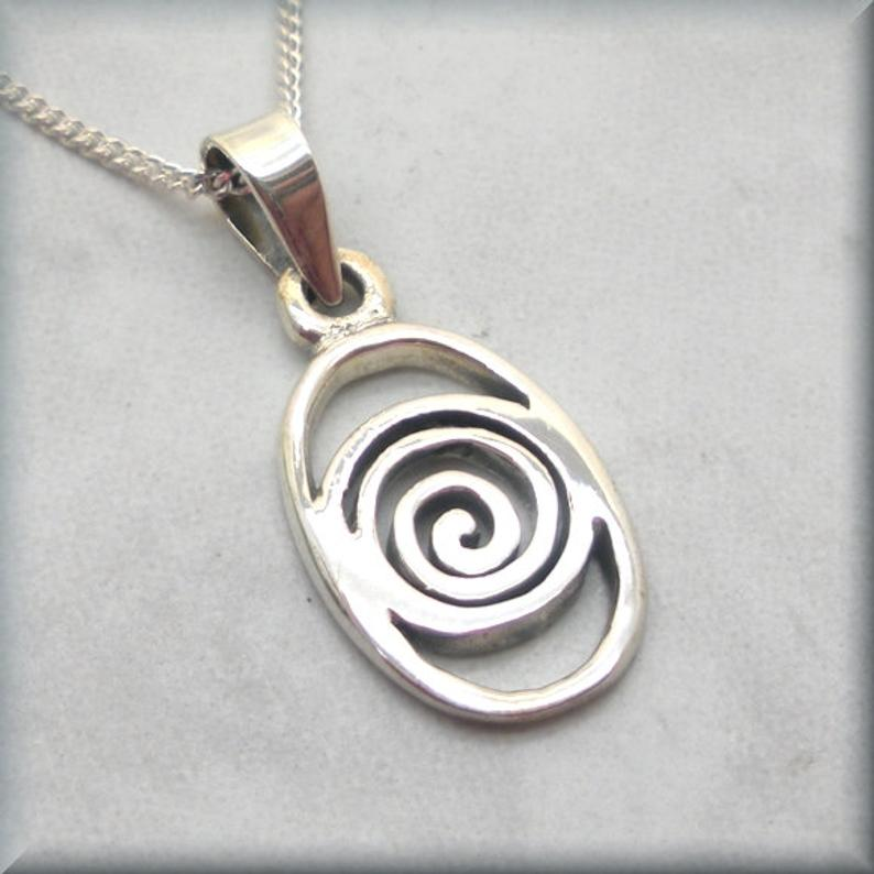 Celtic swirl necklace