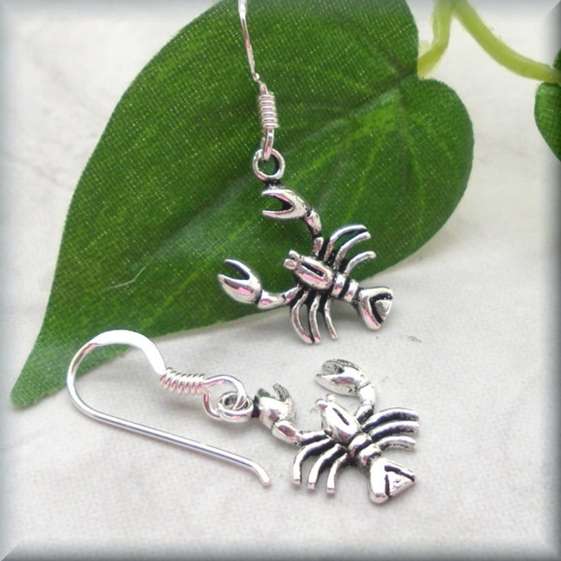 crustacian earrings in sterling silver
