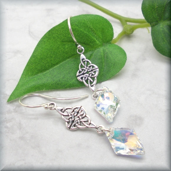 Celtic crystal AB earrings