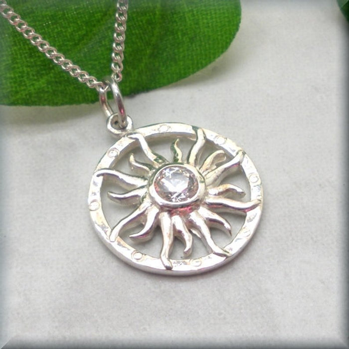 summer sun beach necklace in sterling silver