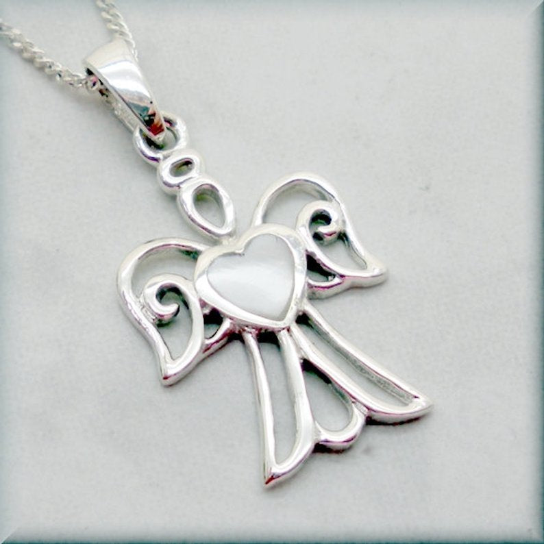 925 sterling silver angel necklace