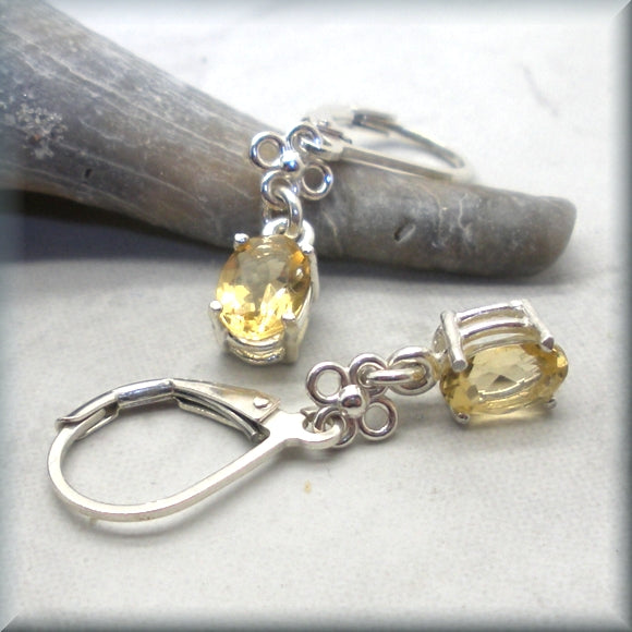 golden citrine earrings for november birthstone