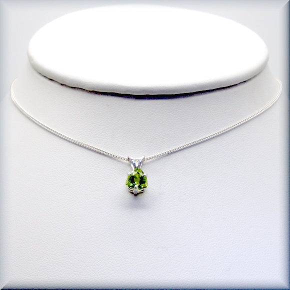 August birthstone necklace in sterling silver