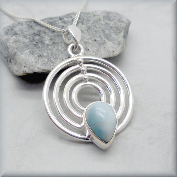 Genuine larimar necklace