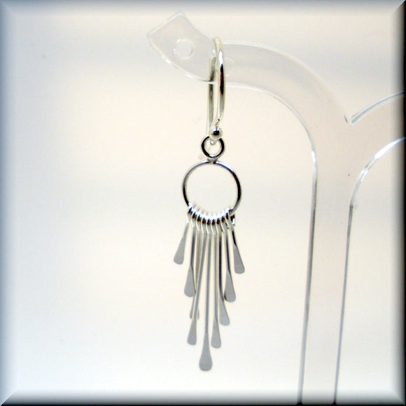 Paddle Fringe Earrings - Sterling Silver Dangle Earrings - Bonny Jewelry