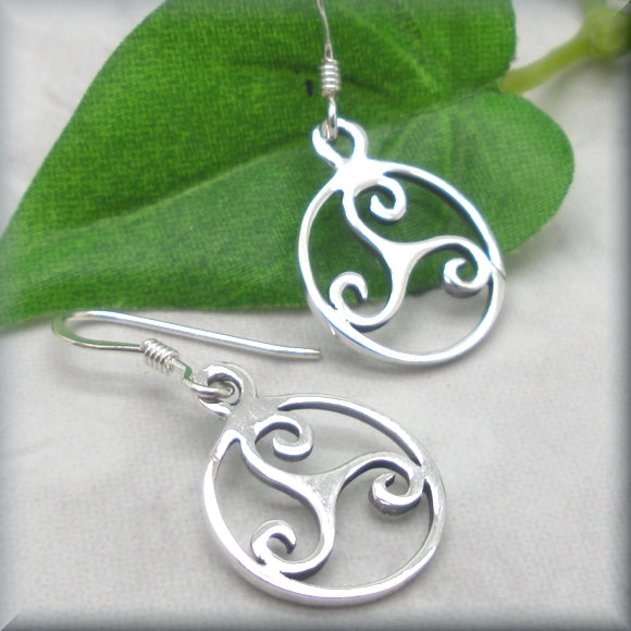 Triskele Spiral Celtic Earrings