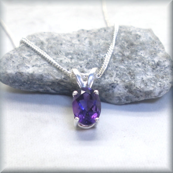 african amethyst pendant on sterling silver chain
