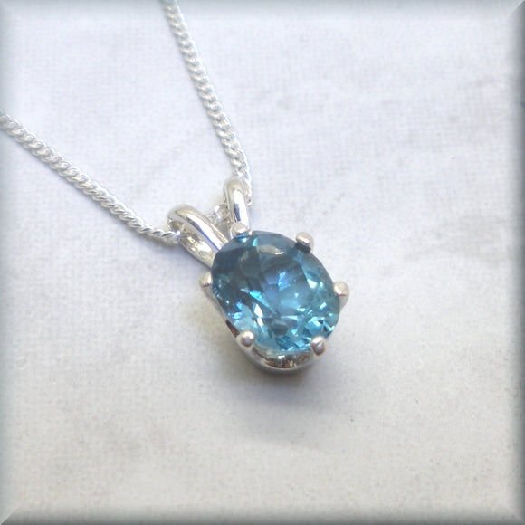 London blue topaz gemstone necklace