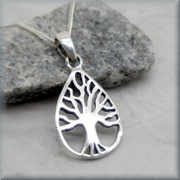 Tree of Life Necklace - Nature Jewelry - Sterling Silver