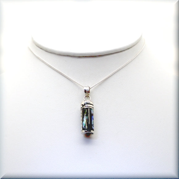 secret message tube necklace in sterling silver