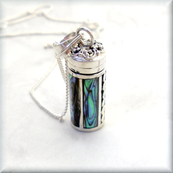 sterling silver wish box necklace