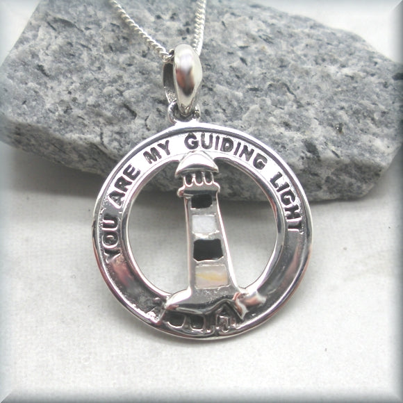 Guiding Light Lighthouse Necklace - Sterling Silver