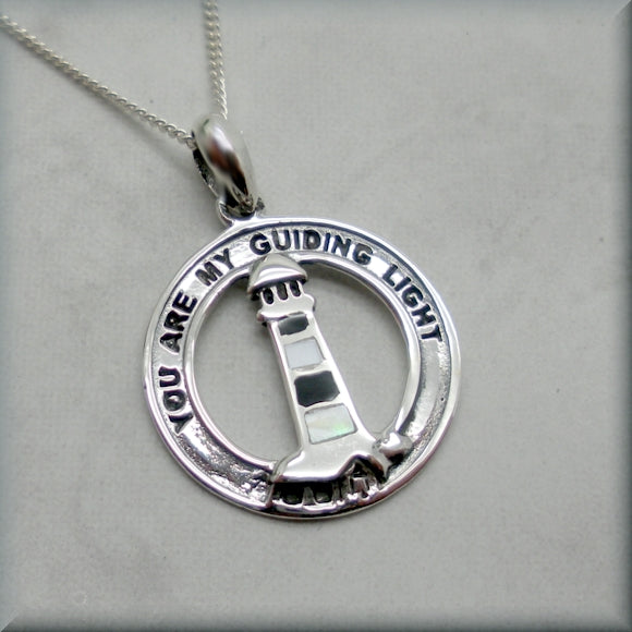 sterling silver guiding light lighthouse necklace