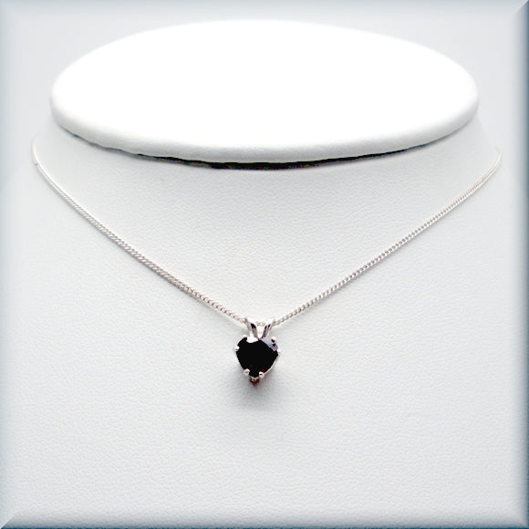 Rhodolite Garnet Heart Neckalce - Gemstone Necklace - Jaunary Birthstone - Sterling Silver - Bonny Jewelry
