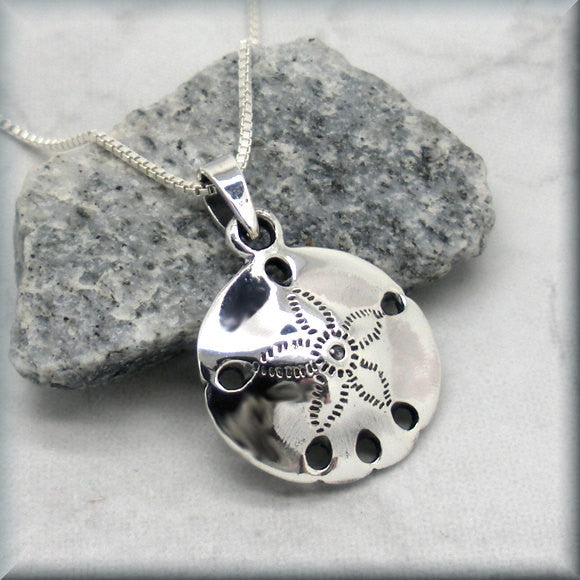 Shiny Sand Dollar Necklace Ocean Necklace - Beach Jewelry - Bonny Jewelry