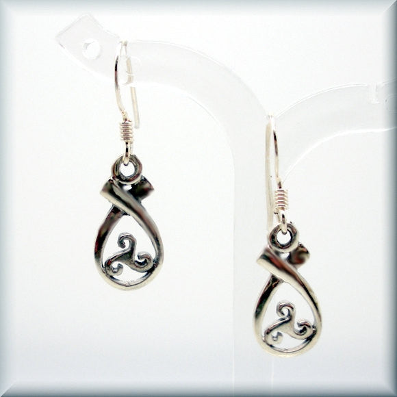 Triskele Teardrop Celtic Earrings - Bonny Jewelry
