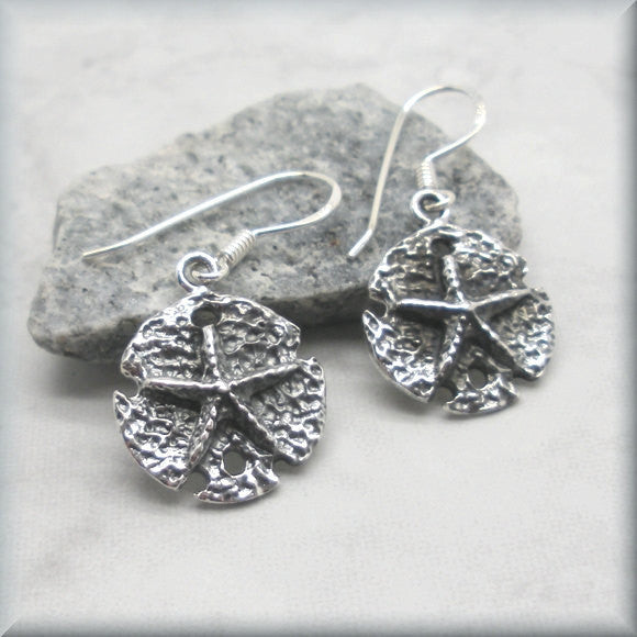 Silver Starfish Earrings - Textured