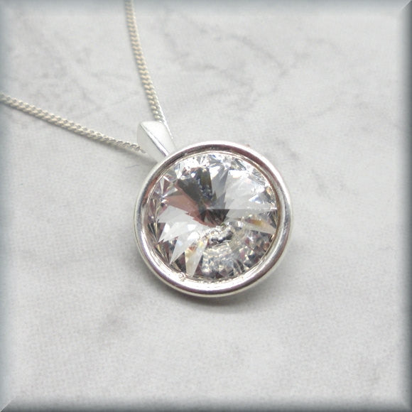 Crystal Rivoli Necklace - April Birthstone....... - Bonny Jewelry