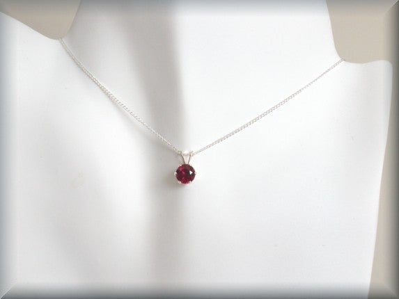 January Birthstone Necklace - Garnet Jewelry - Bonny Jewelry
