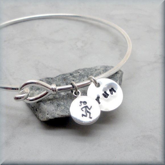 Love to Run Runners Bangle Bracelet - Bonny Jewelry