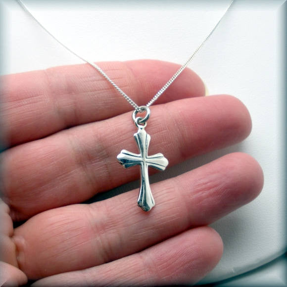 Detailed Cross Necklace - Religious Jewelry - Bonny Jewelry