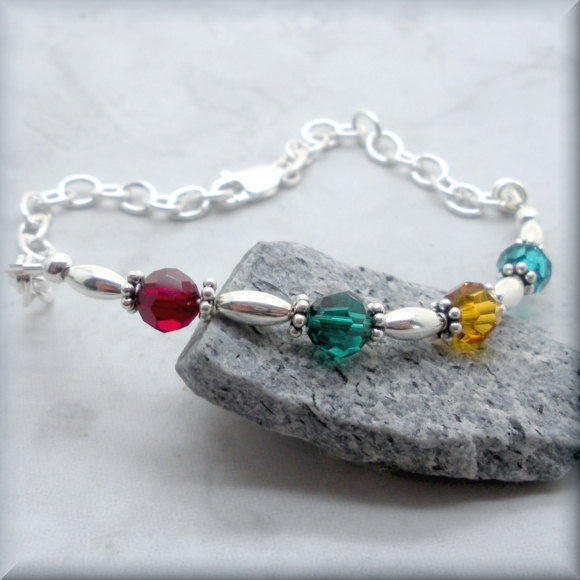 For My Mom Mothers Birthstone Bracelet - Family Jewelry - Bonny Jewelry
