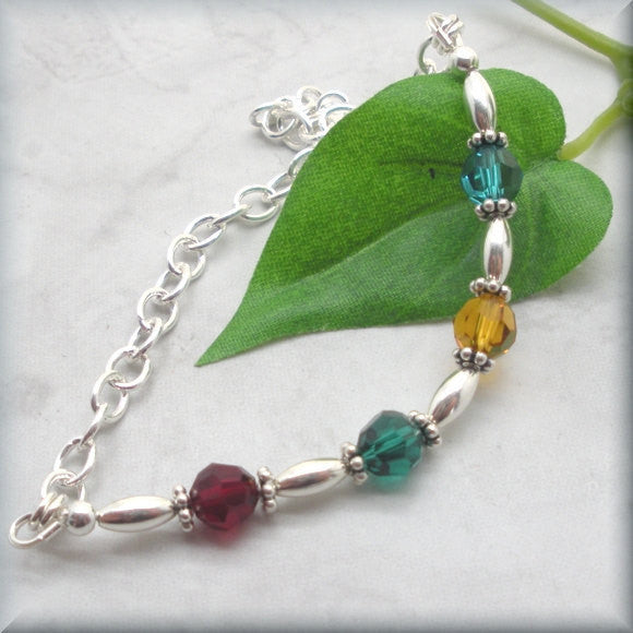 For My Mom Mothers Birthstone Bracelet - Family Jewelry