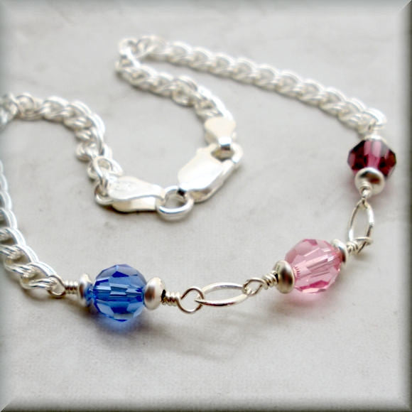 Marquise Mothers Birthstone Bracelet - Family Jewelry